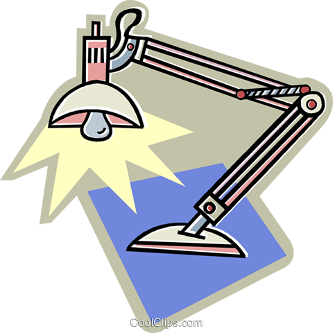 desk lamp Royalty Free Vector Clip Art illustration vc011806