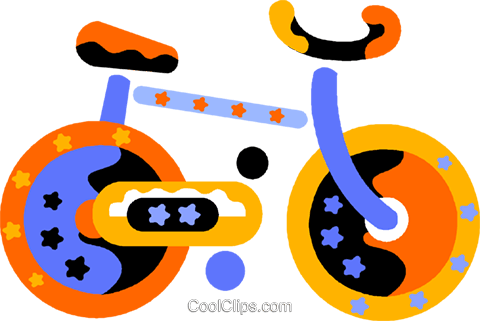 bicycle Royalty Free Vector Clip Art illustration vc011810