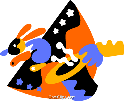 magician's rabbit Royalty Free Vector Clip Art illustration vc011811
