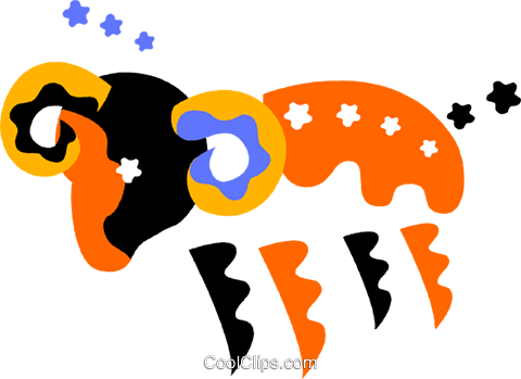 Astrology, Aries Royalty Free Vector Clip Art illustration vc011812
