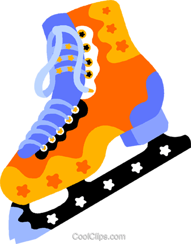ice skates Royalty Free Vector Clip Art illustration vc011817