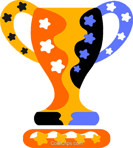 trophy Royalty Free Vector Clip Art illustration vc011819