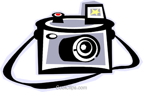 camera Royalty Free Vector Clip Art illustration vc011821