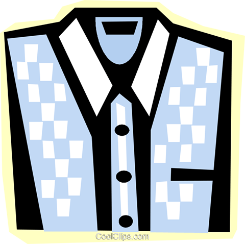 dress shirt Royalty Free Vector Clip Art illustration vc011823