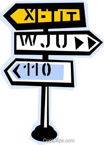 road signs Royalty Free Vector Clip Art illustration vc011828