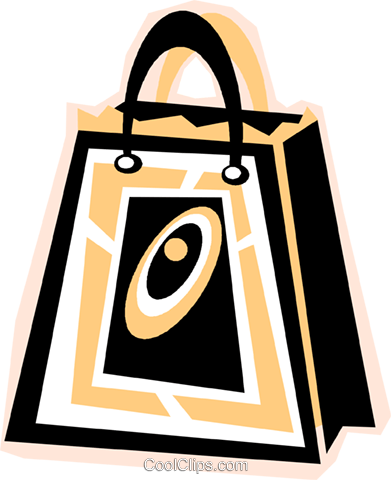 grocery bag Royalty Free Vector Clip Art illustration vc011840