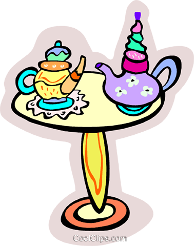 tea time Royalty Free Vector Clip Art illustration vc011844