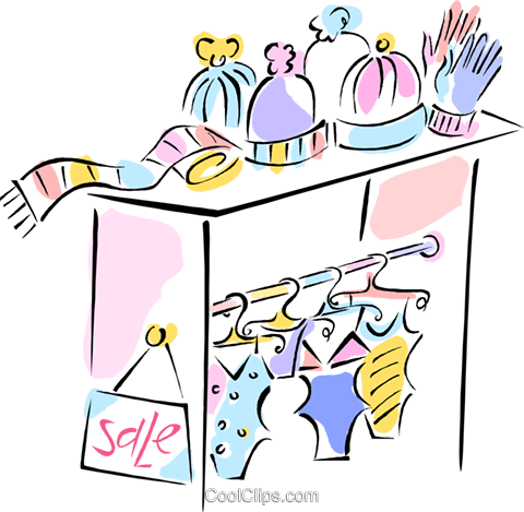 children's clothing sales Royalty Free Vector Clip Art illustration vc011863