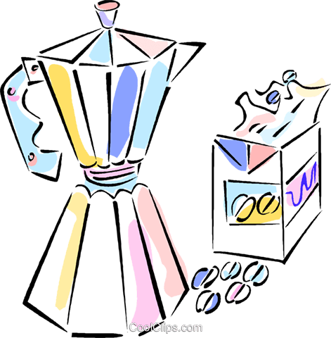 coffee pot Royalty Free Vector Clip Art illustration vc011870