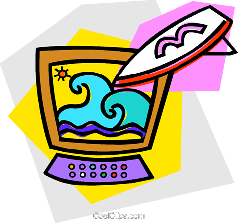 internet surfing concept Royalty Free Vector Clip Art illustration vc011879