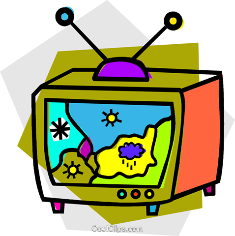 television weather report Royalty Free Vector Clip Art illustration vc011887