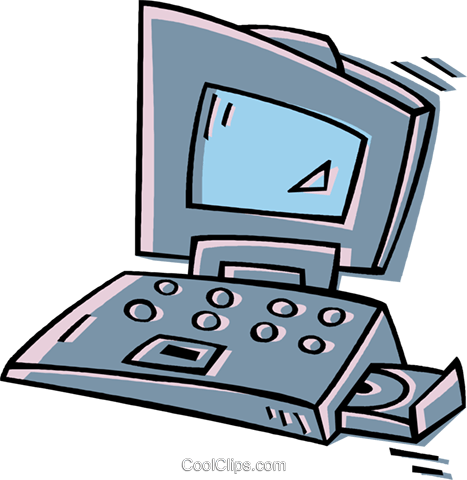 laptop computer Royalty Free Vector Clip Art illustration vc011898