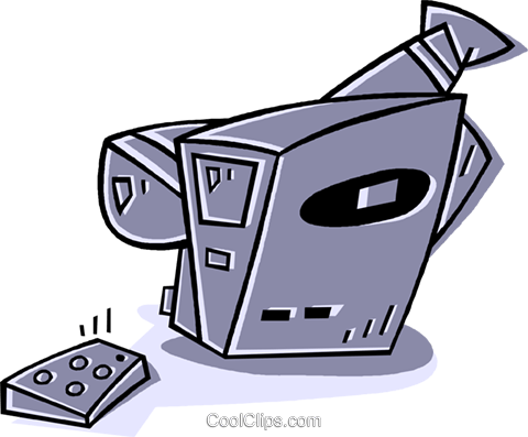 video camera Royalty Free Vector Clip Art illustration vc011899