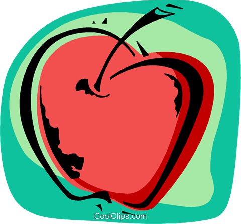 Apple Royalty Free Vector Clip Art illustration vc011900