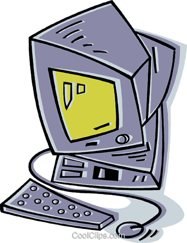 computer Royalty Free Vector Clip Art illustration vc011902