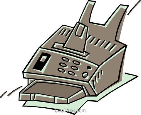 fax machine Royalty Free Vector Clip Art illustration vc011905