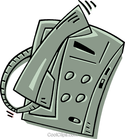 telephone Royalty Free Vector Clip Art illustration vc011907