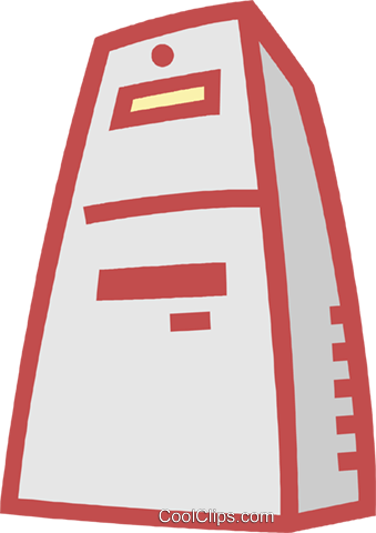 computer tower Royalty Free Vector Clip Art illustration vc011913