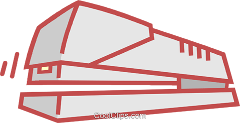 stapler Royalty Free Vector Clip Art illustration vc011916