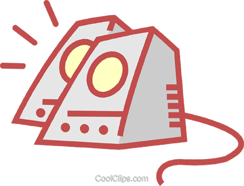 computer speakers Royalty Free Vector Clip Art illustration vc011917