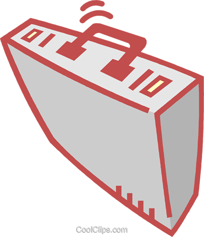 briefcase Royalty Free Vector Clip Art illustration vc011918