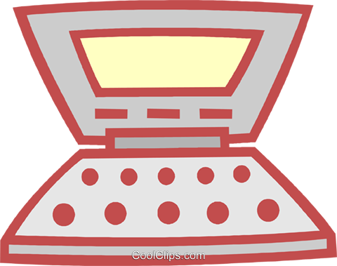 laptop computer Royalty Free Vector Clip Art illustration vc011924