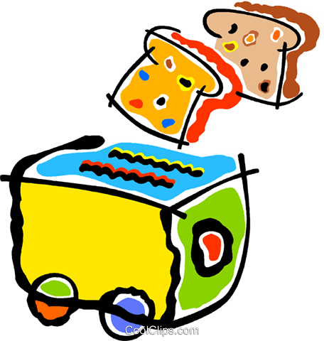 toaster Royalty Free Vector Clip Art illustration vc011926