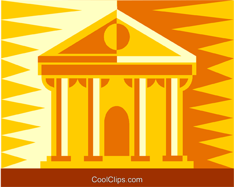 financial institution Royalty Free Vector Clip Art illustration vc011952
