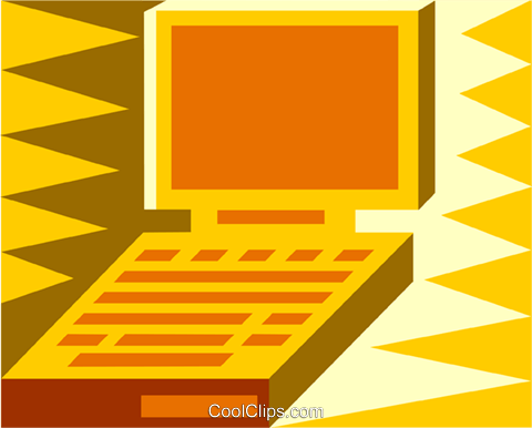 laptop Royalty Free Vector Clip Art illustration vc011958