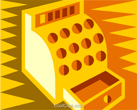 cash register Royalty Free Vector Clip Art illustration vc011960