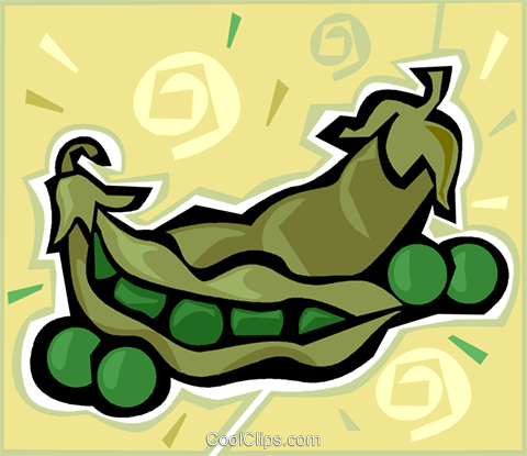 peas Royalty Free Vector Clip Art illustration vc011961