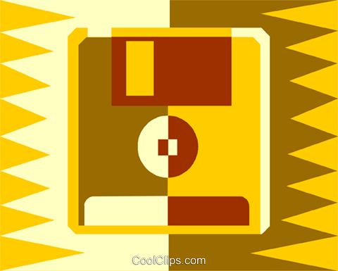 floppy disk Royalty Free Vector Clip Art illustration vc011964