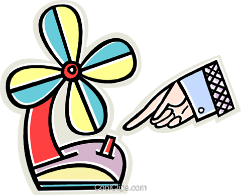electric fan Royalty Free Vector Clip Art illustration vc011972