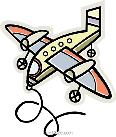 airplane Royalty Free Vector Clip Art illustration vc011975