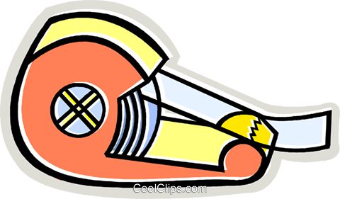tape dispenser Royalty Free Vector Clip Art illustration vc011985
