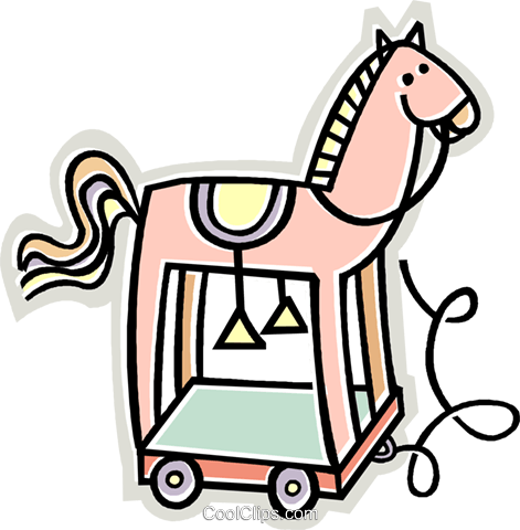 toy horse Royalty Free Vector Clip Art illustration vc011986
