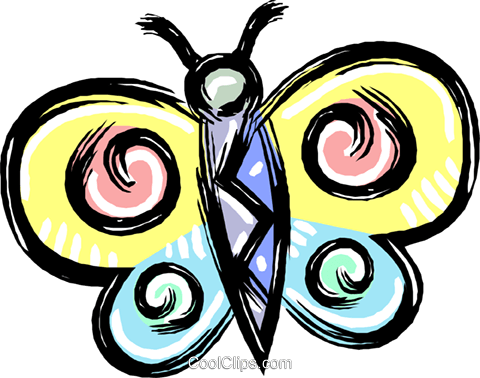 butterfly Royalty Free Vector Clip Art illustration vc011989