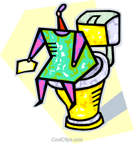 toilet Royalty Free Vector Clip Art illustration vc011997