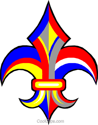 fleur de lis Royalty Free Vector Clip Art illustration vc011999