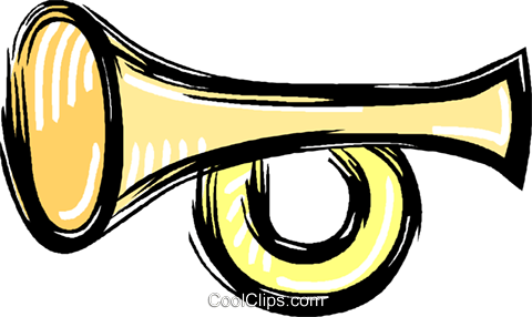 trumpet Royalty Free Vector Clip Art illustration vc012009