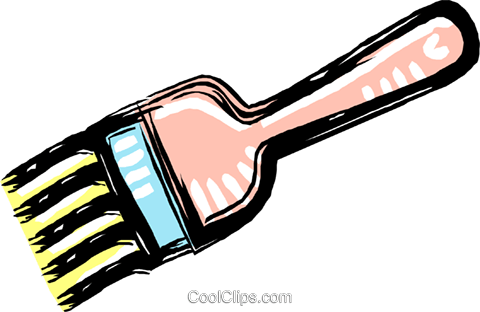 paintbrush Royalty Free Vector Clip Art illustration vc012019