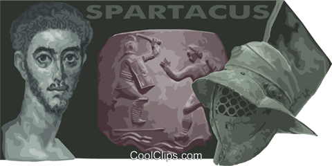 Spartacus Roman gladiator Royalty Free Vector Clip Art illustration vc012039
