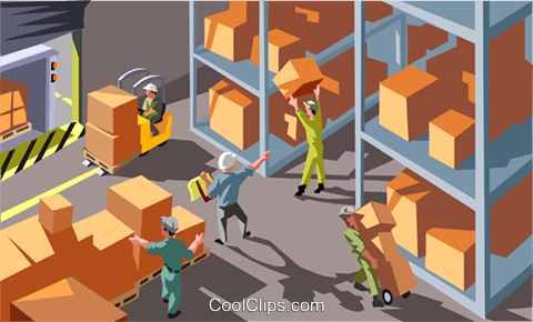 warehouse Royalty Free Vector Clip Art illustration vc012042