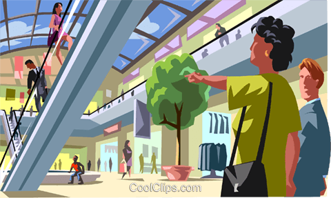 Shopping mall Royalty Free Vector Clip Art illustration vc012043