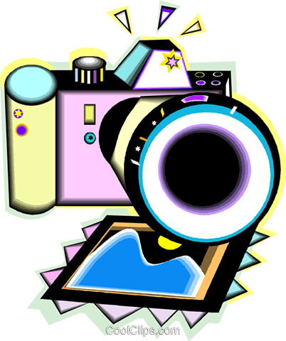 camera Royalty Free Vector Clip Art illustration vc012070