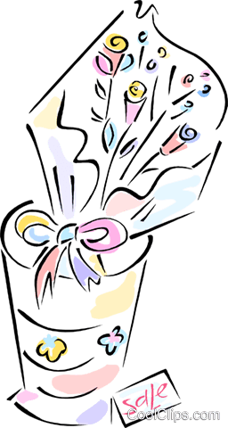 bouquet of flowers Royalty Free Vector Clip Art illustration vc012075