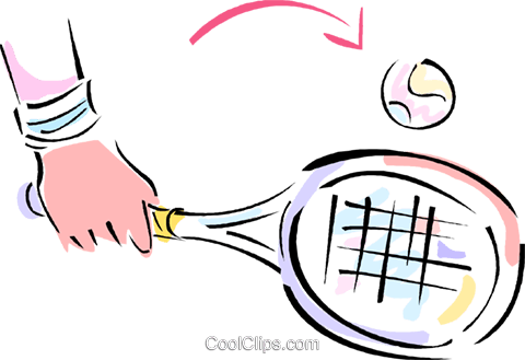 tennis racket Royalty Free Vector Clip Art illustration vc012079