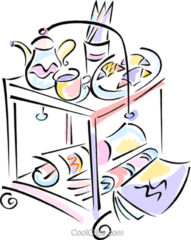 room service Royalty Free Vector Clip Art illustration vc012096