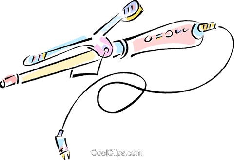 curling iron Royalty Free Vector Clip Art illustration vc012097