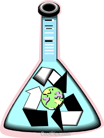 test tube recycle symbol Royalty Free Vector Clip Art illustration vc012102